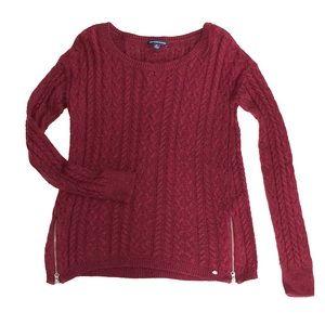 American Eagle zipper side sweater small